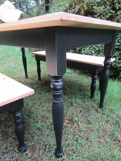 Distressed painted table base