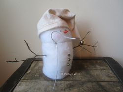 handcrafted snowman