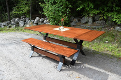 Extendable Industrial Dining Table for 6 to 8