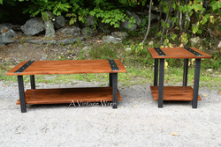 Industrial Coffee Table and Side Table