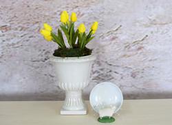 Yellow Tulips and Dartmoor Sheep