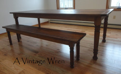 Tradtional Farm Table and Bench