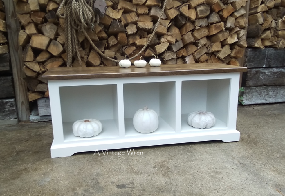 Entryway Cubby Bench