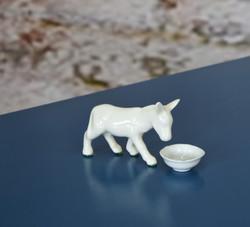 white porcelain donkey