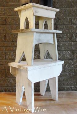 Stacking farmhouse stools