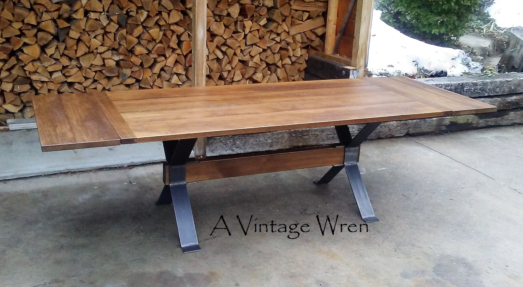 Extending Industrial Dining Table