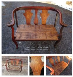 Restored antique bench