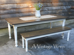 Distressed Dining Table set for 8
