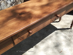 Center drawer in console table