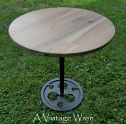 Industrial reclaimed accent table