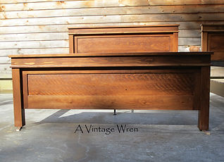 King Size Rustic Bed