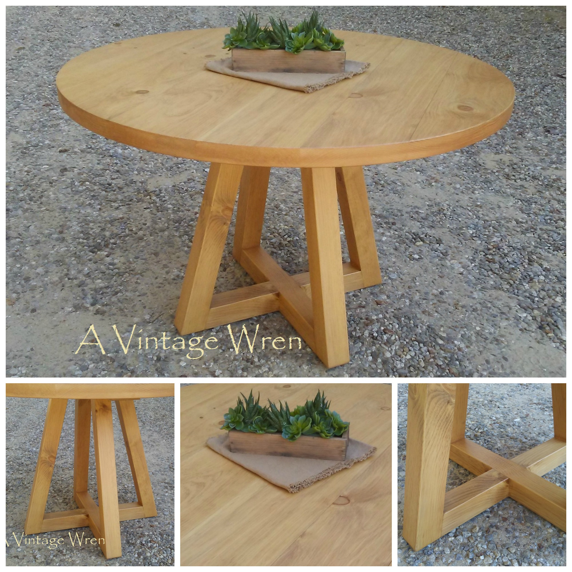 Modern Wood Pedestal Table