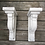 Thumbnail: Handmade in the USA Pair of Large Wood Corbels / Antique Wooden Corbels