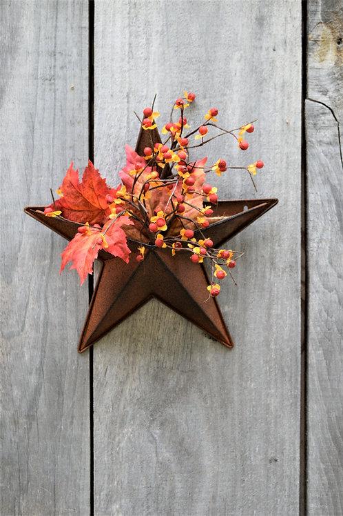 Rusty Star Wall Box / Barn Star / Primitive Country Rusty Star Wall Pocket