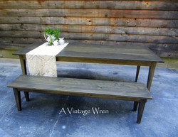 Shaker Table and bench set
