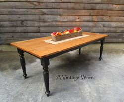 Dining table with black base