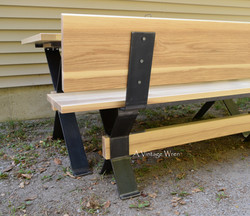 Industrial Bench with Back detail