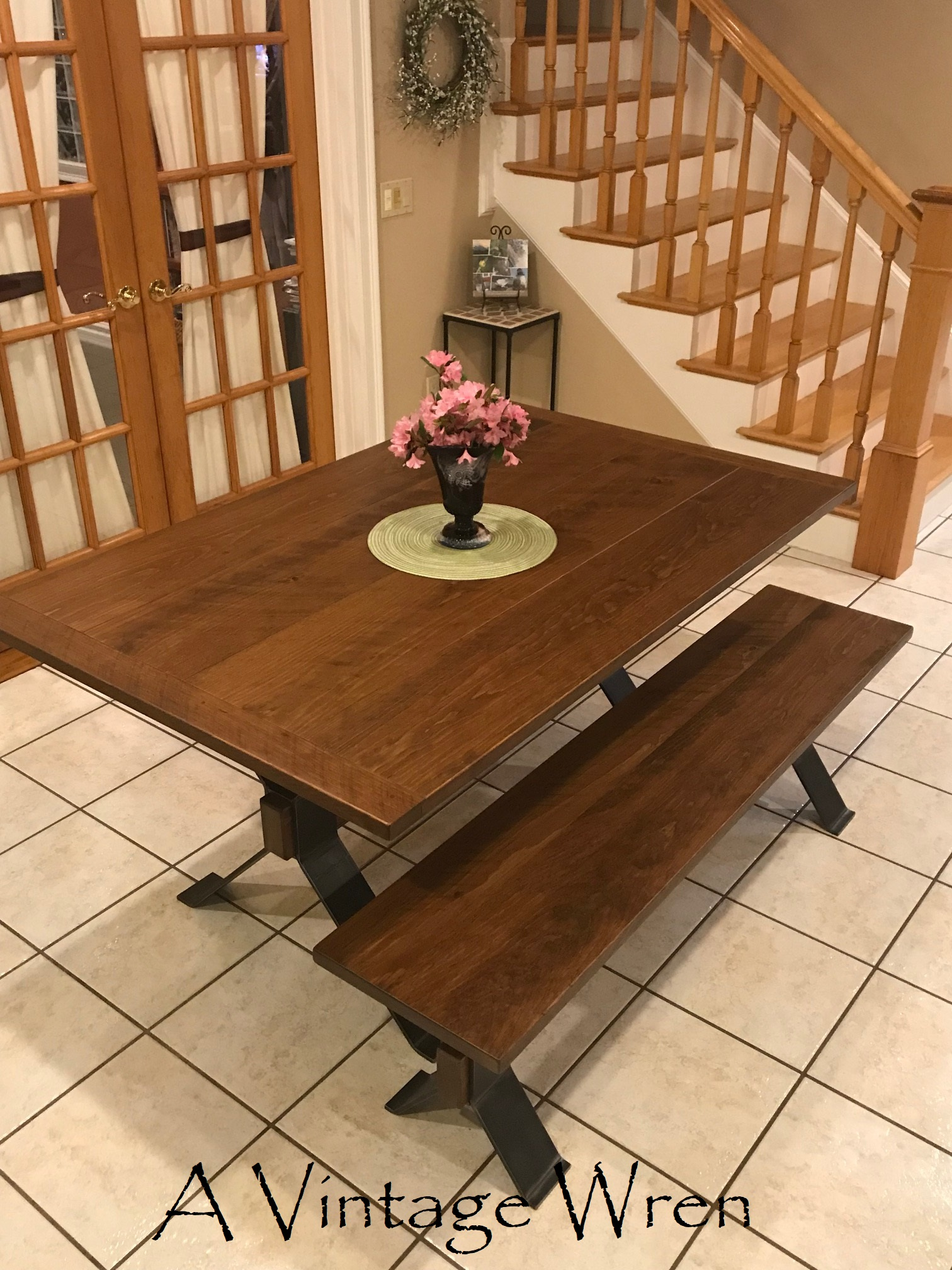 Wood and Metal dining set