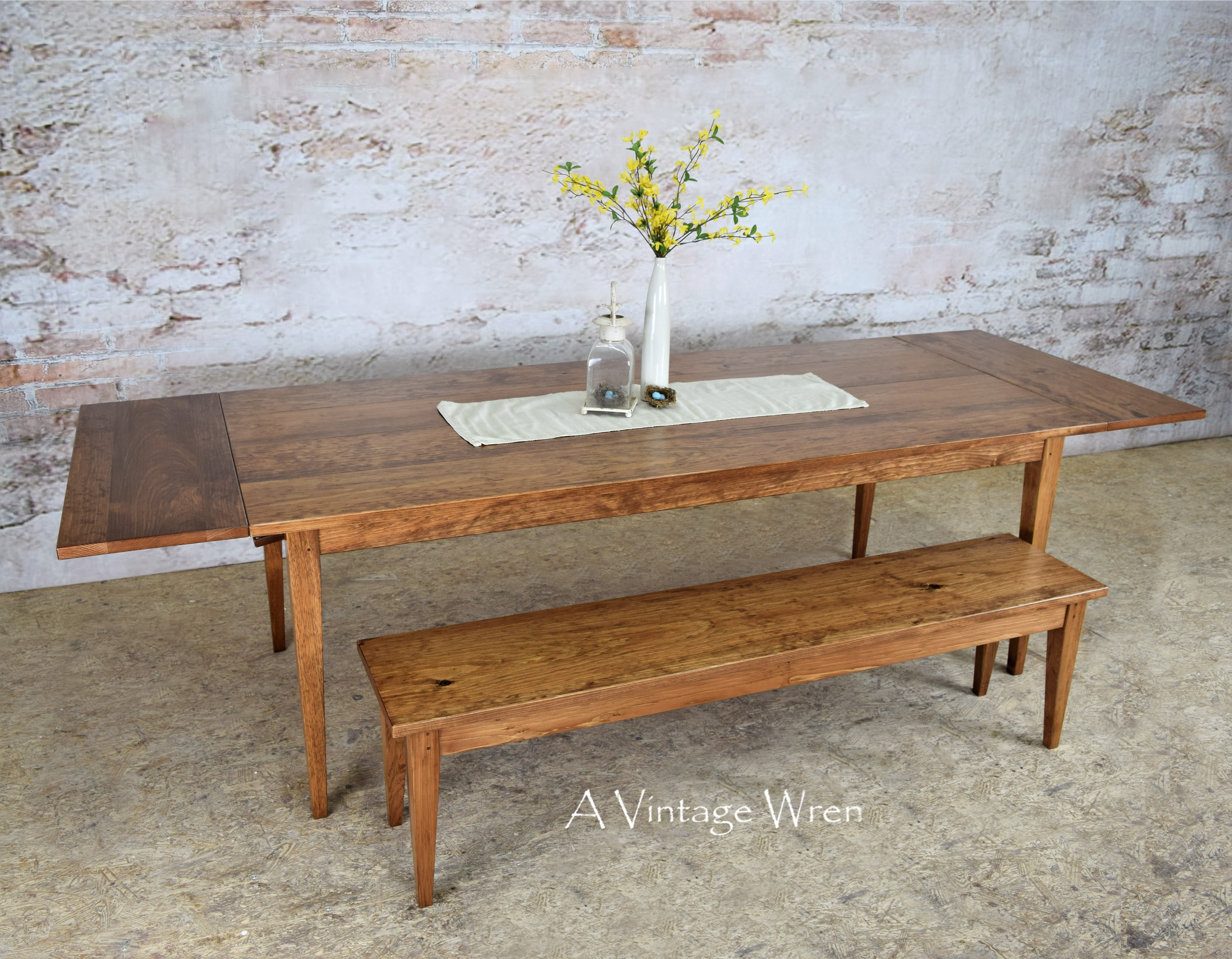 Extendable Shaker Dining Table for 8