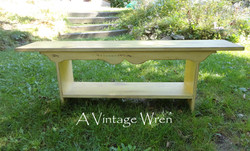 Primitive Country Painted Bench