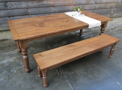 Traditional Farmhouse Dining Table for 8