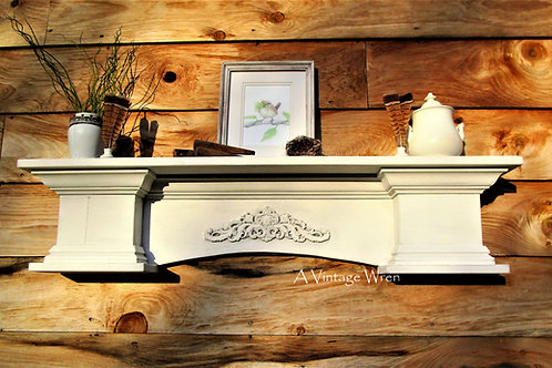 Handmade in the USA Large Arched Floating Mantel Shelf
