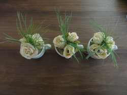 Paper roses with Pine needles