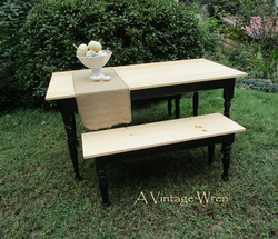 Farm table and bench set