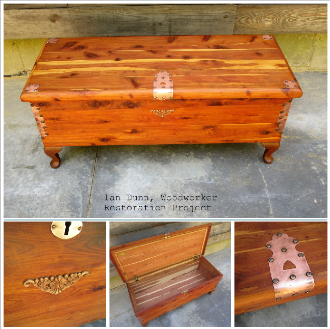 Refinished cedar chest