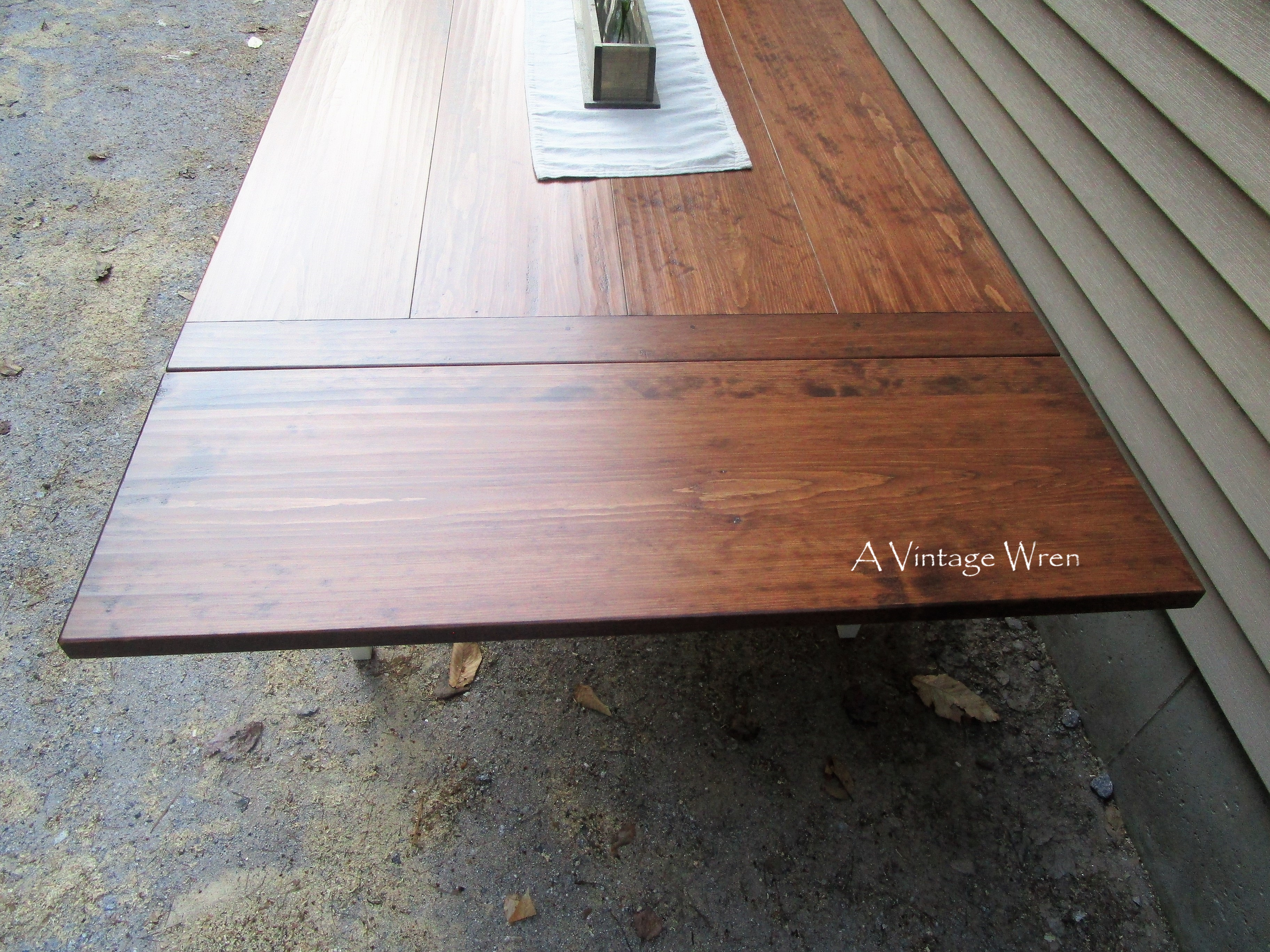 Hand Planed Table Top with Extensions