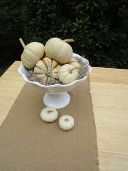 Mini gourds in white compote