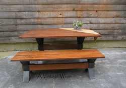 Industrial Table and Bench