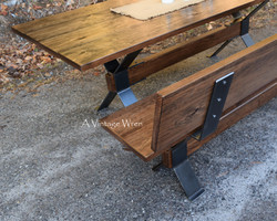 Industrial Bench with Back