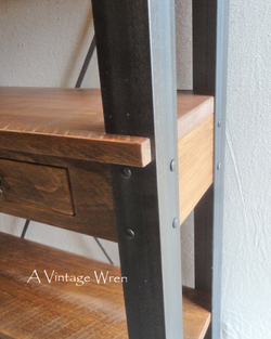Industrial Bookcase detail
