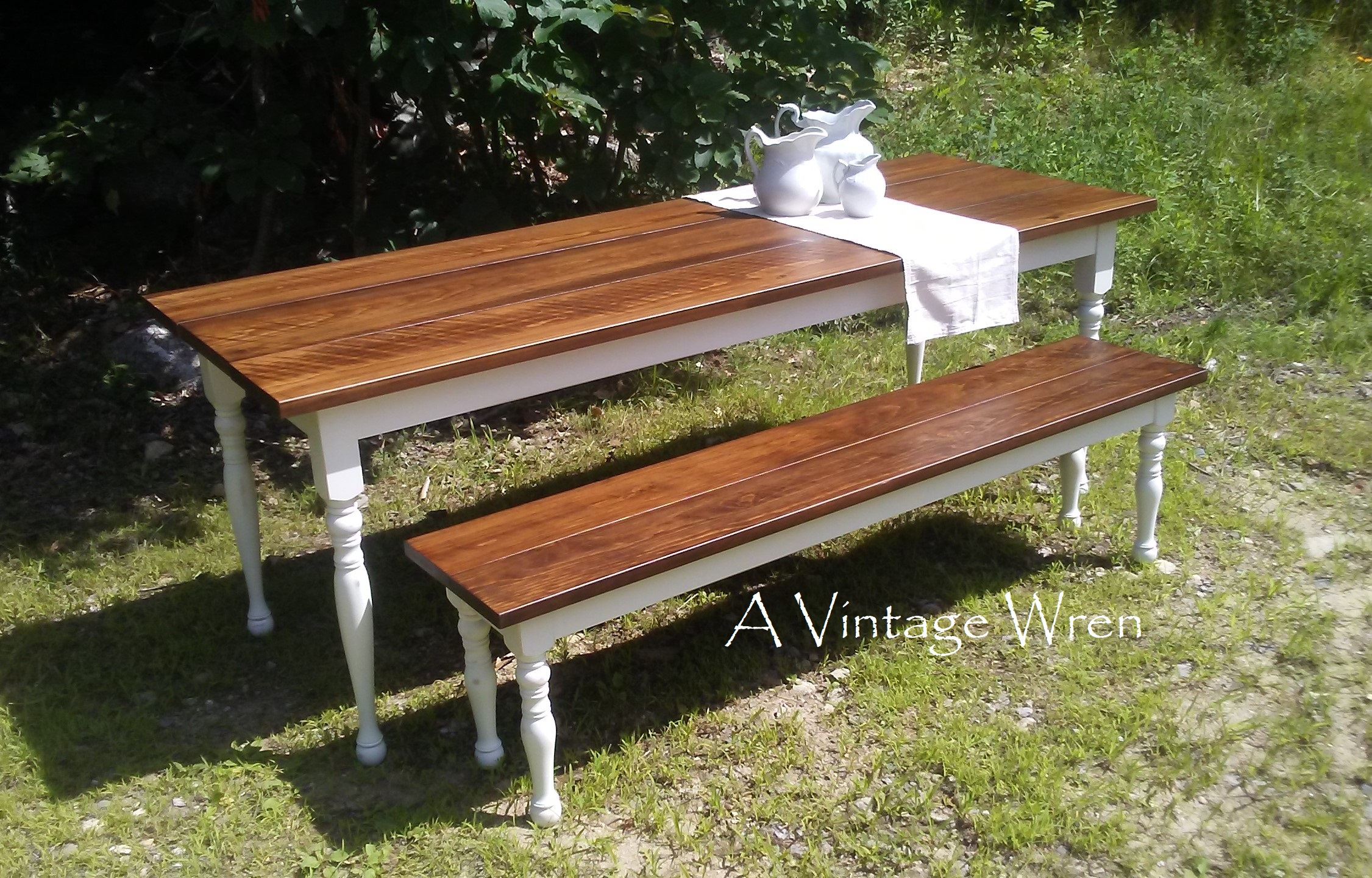 Farm Table with Distressed Base