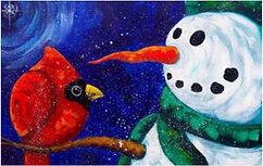 Snowman with cardinal.jpg