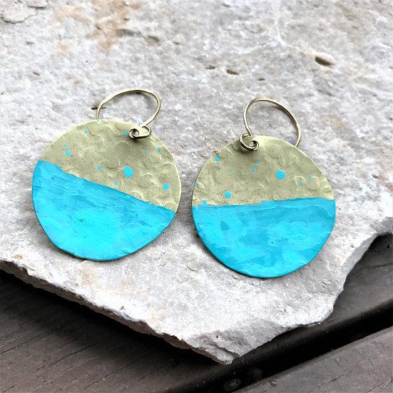 Brass Patina Dangle Earrings