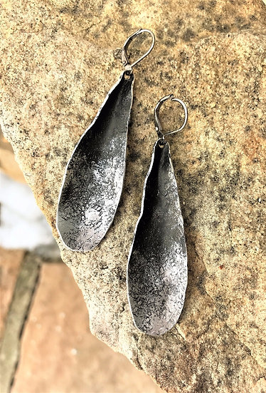 Silver Tone Long Dangle Earrings