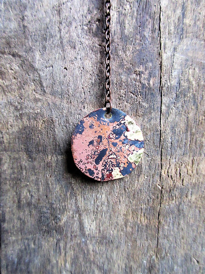 Mixed Metal Patina Lariat Necklace