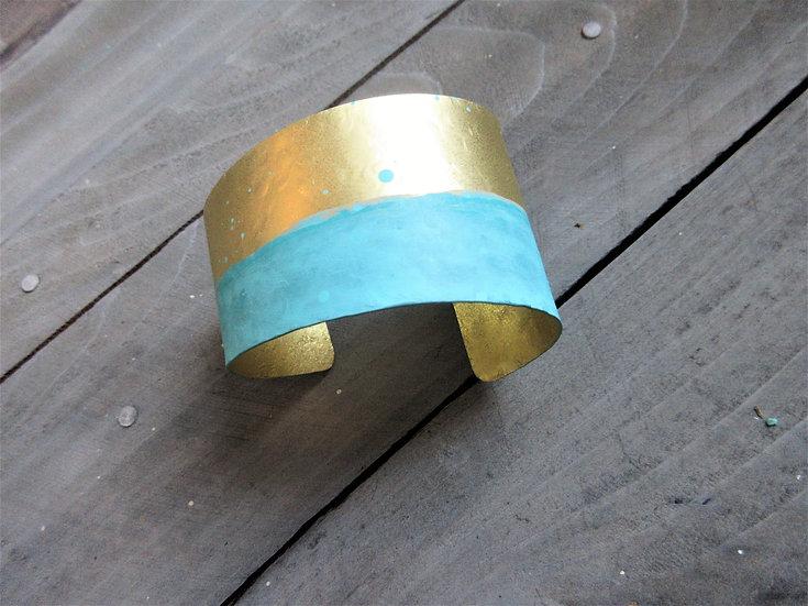brass patina cuff bracelet