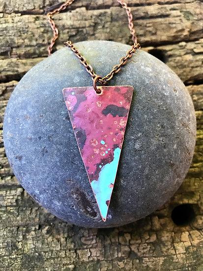 Copper Arrow Pendant Necklace