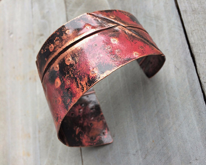 ezra and india copper cuff bracelet