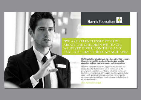 Harris Federation - Recruitment branding