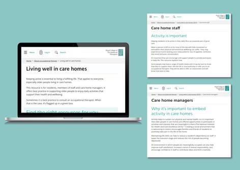 Royal College of Occupational Therapists - Online toolkit