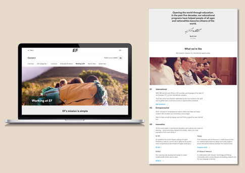 EF Edtech - Web content