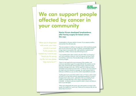 Macmillan Cancer Support - Interview