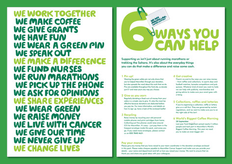 Macmillan Cancer Support - Fundraising pack
