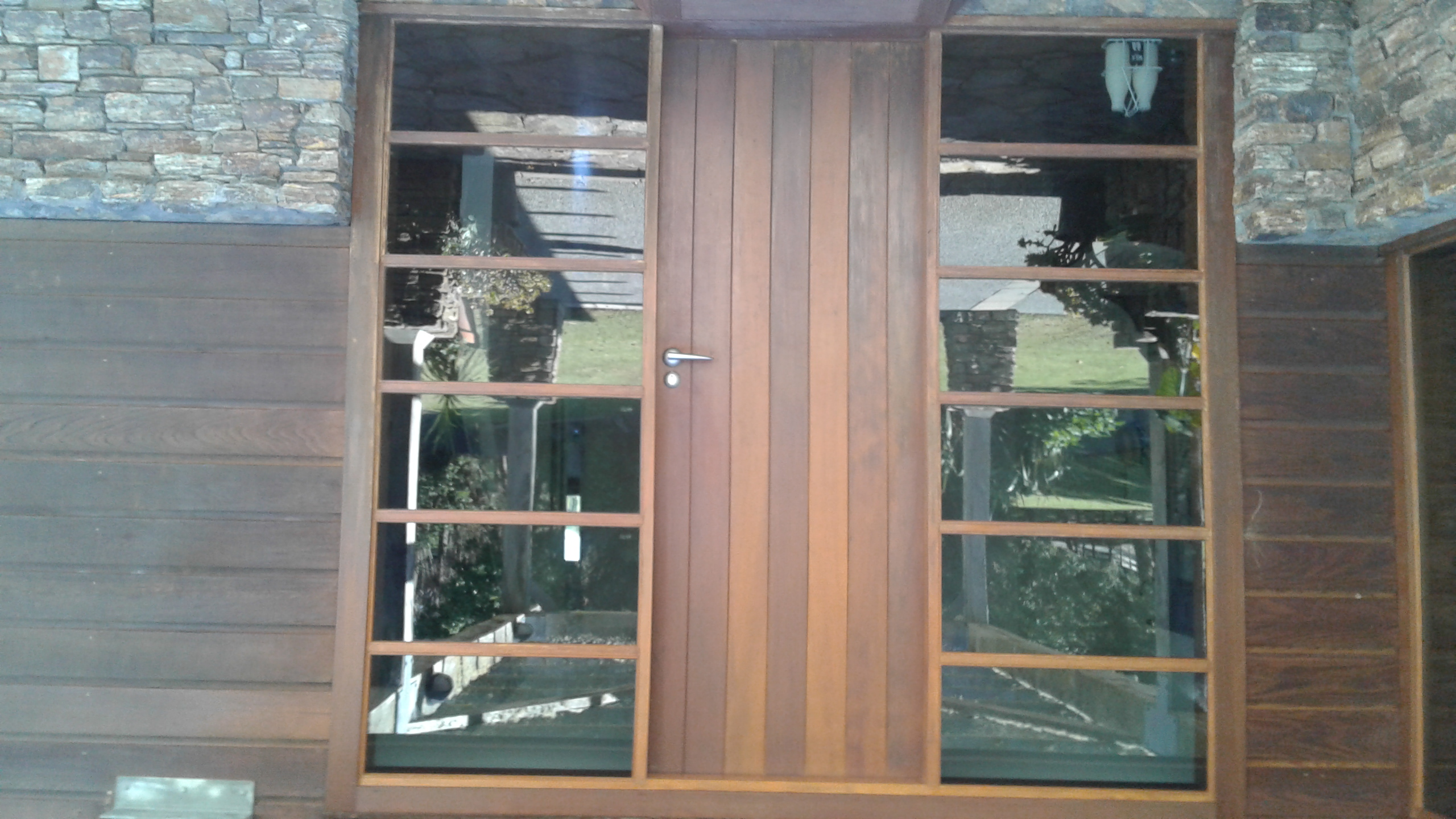 restoration of cedar door