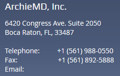 ArchieMD Legal Website Contact Info