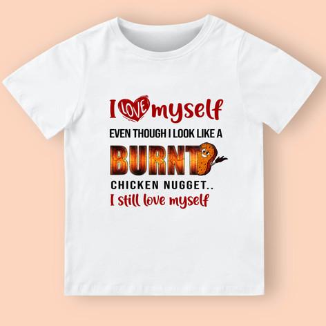 Burned chicken nugget